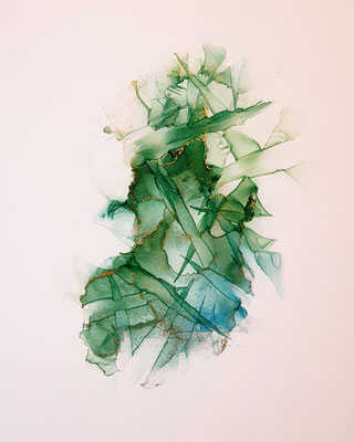Cage II - Alcohol Ink - 20x30 cm