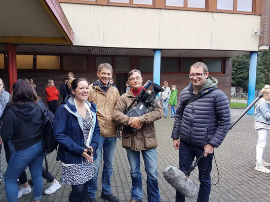 Tanja Früchtl, Dirk Hammel und das WDR-Aufnahmeteam