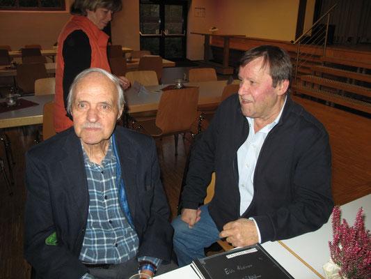 Jahrzehntelang im Dienste der RSH: Willi Helle (1970-1993) und Hans Heker (1979-2011)