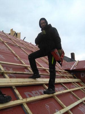 Kevin beim Dachdecker Aland