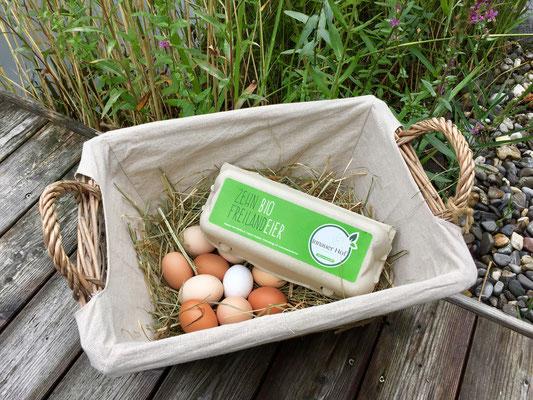 Ein bunter Haufen leckerer Eier