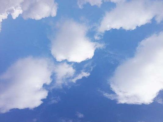 Blauer Himmel und Schäfchenwolken - herrlich.