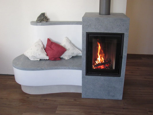 neuheit ofen mit beheizter sitzbank ohne kamin mit echtem. Black Bedroom Furniture Sets. Home Design Ideas