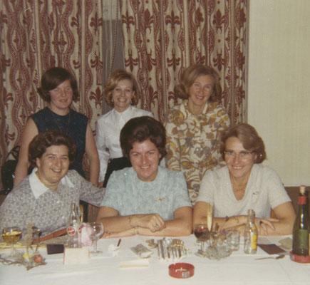 Der Vorstand Damenturnverein Chur 1970 mit Mirta Brunold, Vreni Riederer, Irma Krättli, Stini Flütsch, Maya Bonell und Marlies Kliess
