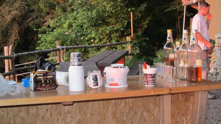 Die Kaffeebar ist bereit.