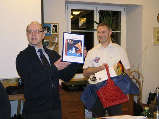 René Mory für 10Jahre Ehrenmitglied