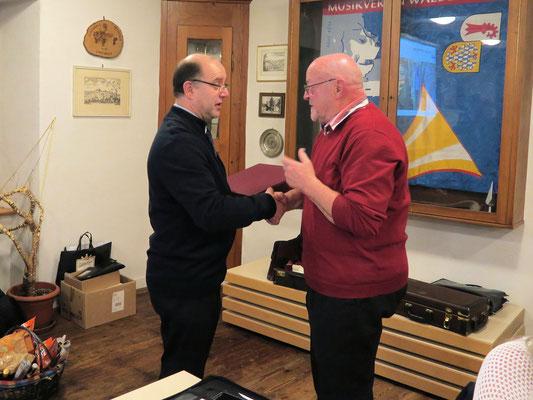 Walter Bürgin 50Jahre Mitglied