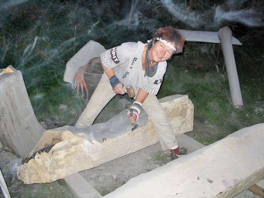 Bei der Arbeit - Mengebostel 2007