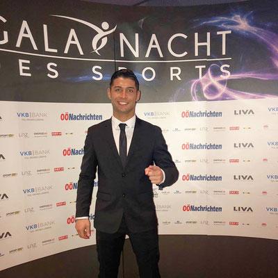 Fußball Künstler Saki bei der Gala Nacht des Sports
