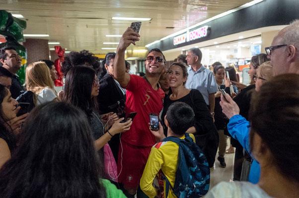 Cristiano Ronaldo Lookalike with Fans