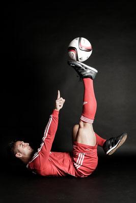 Fussball Freestyler als Fotomodel
