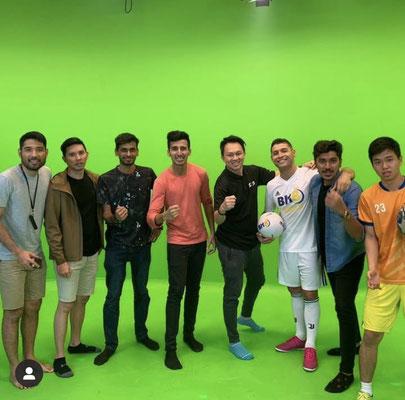 Football Greenscreen Team