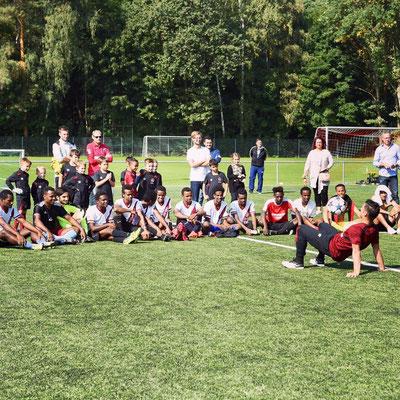 Fußball - Flüchtlingstunier Nürnberg Freestyle Fussball