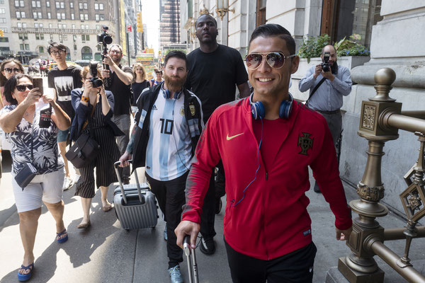 Messi and Ronaldo (Saki) in USA
