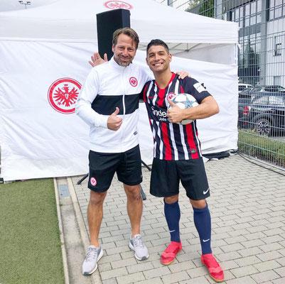Fussball Uwe Bindewald & Saki Eintracht Frankfurt Turnier