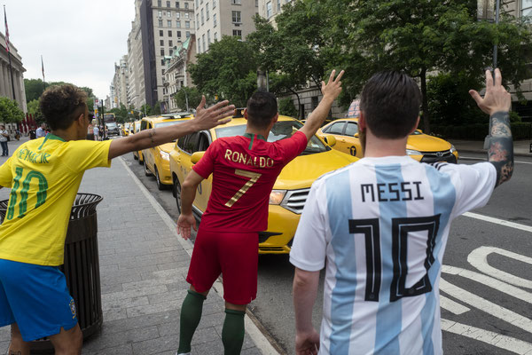 Messi Ronaldo Neymar Lookalikes in New York
