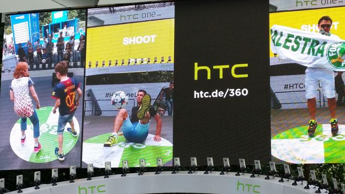 Fußball Freestyler für HTC bei Produktpräsentation