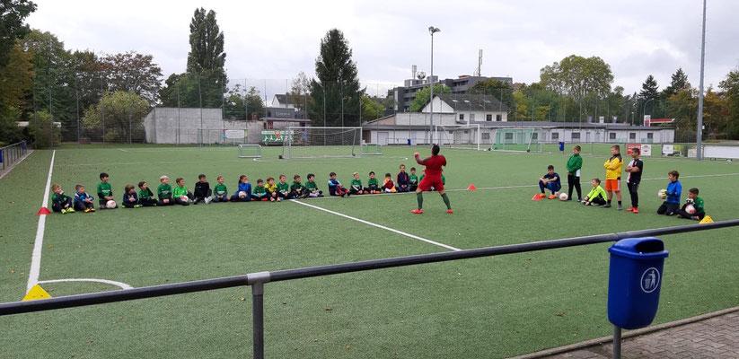 Freestyle Fußball bei TSG Mainz Kastel