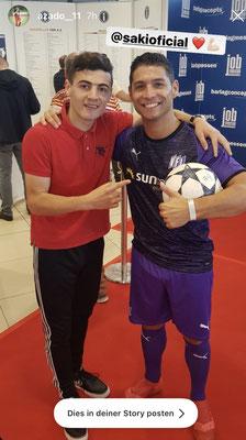 Fussball Freestyler Saki Event Fans