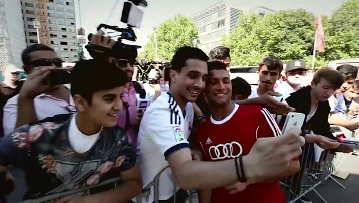 Fußballkünstler für Autogramme und Fotos