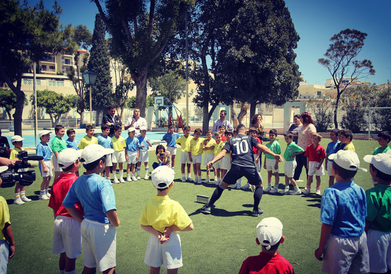 Fussball Freestyle Show bei Camps