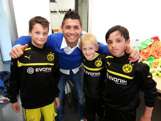 Fußball Freestyle bei Workshops für Bundesligavereine