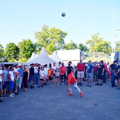Fussball Showact - Kunden & Gäste