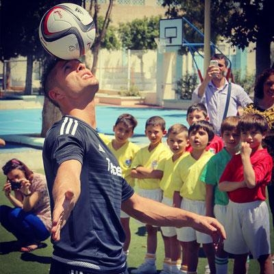 Fußball Freestyler bei Projektwochen in Schulen