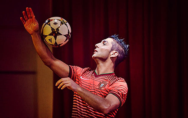 Fußballkünstler für Shows