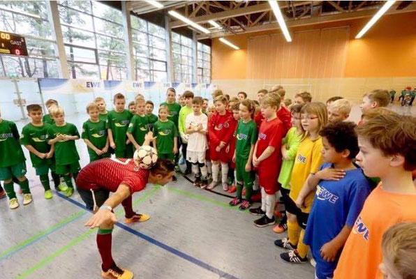 Fußball Freestyler bei Projektwochen