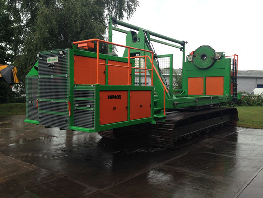Kabelhaspelwagen. In opdracht van BAM Infratechniek Noordoost BV. In bedrijfgesteld in de Noordoostpolder. Aug 2014