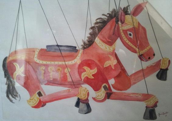 Titel: Paard Materiaal: Aquarel