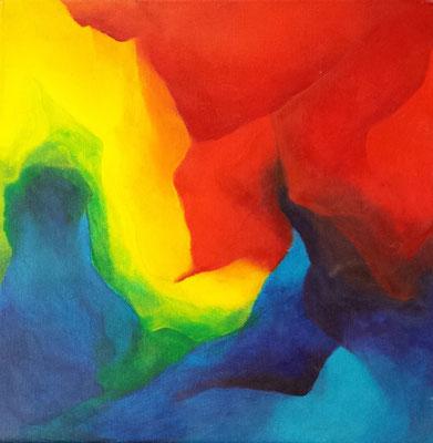 Titel: Kleuroefening Acryl Materiaal: Acryl Afmeting: 40cm x 40cm