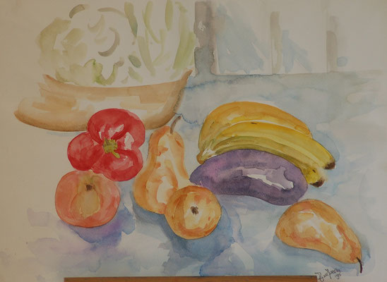 Titel: Fruit Materiaal: Aquarel