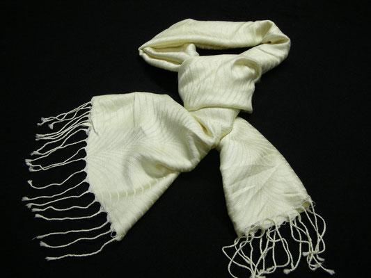 シルク×コットン紋織りストール シルク80%・コットン20% 38cm×183cm(よりフサ含まず)