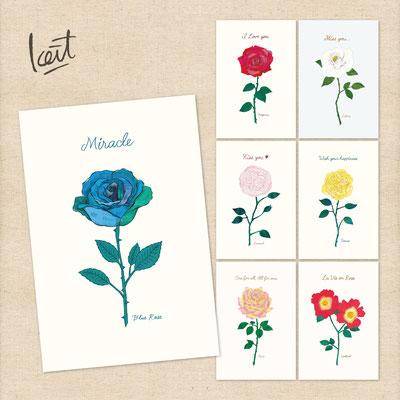 ポストカード 殿堂入りのバラシリーズ