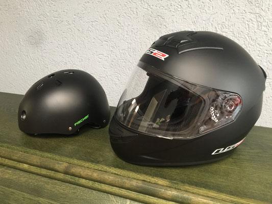 Erwachsenen Helm oder Kinder Helm mieten