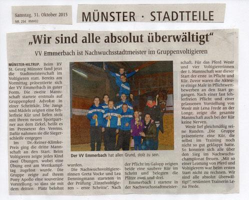 Westfälische Nachrichten - 31.10.2015
