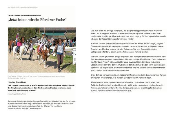 Westfälische Nachrichten - 02.05.2013