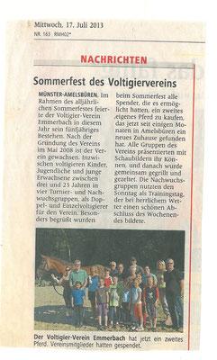 Westfälische Nachrichten - 17.07.2013