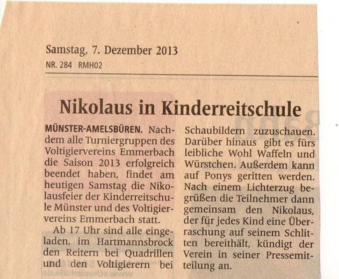 Westfälische Nachrichten - 07.11.2013