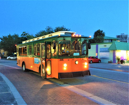 Ride the free Siesta Key Breeze Trolley