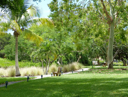 Grab your favorite book and enjoy the peaceful grounds of Midnight Cove II Siesta Key