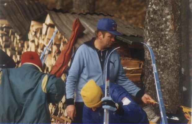 Wachs-Chef bei den Langläufern 1987