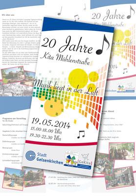 Flyer 20 Jahre Kita Mühlenstraße