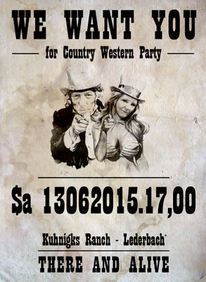 Plakat Westernparty