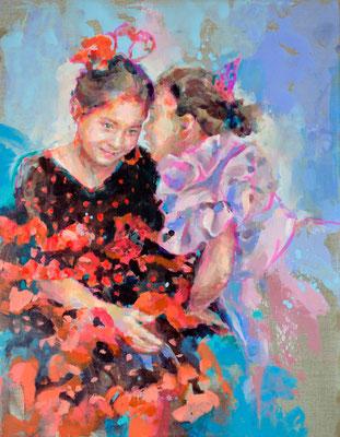 """""""Jose y Sol"""" Commission, 90 x 70 cm"""