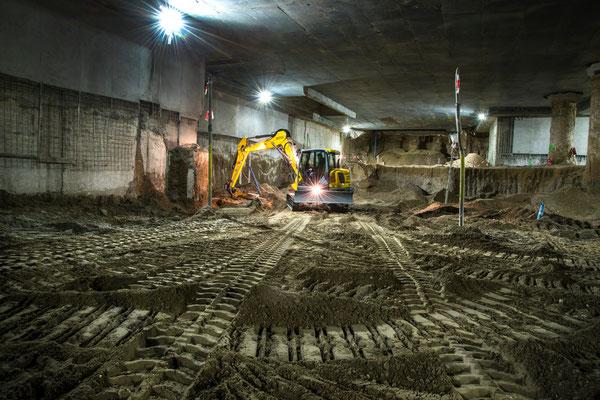 Fotos vom Tunnelbau bzw. U-Bahn Bau in Karlsruhe