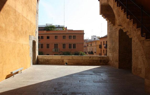 Interior de las Torres de Quart en Valencia (Comunidad Valenciana).