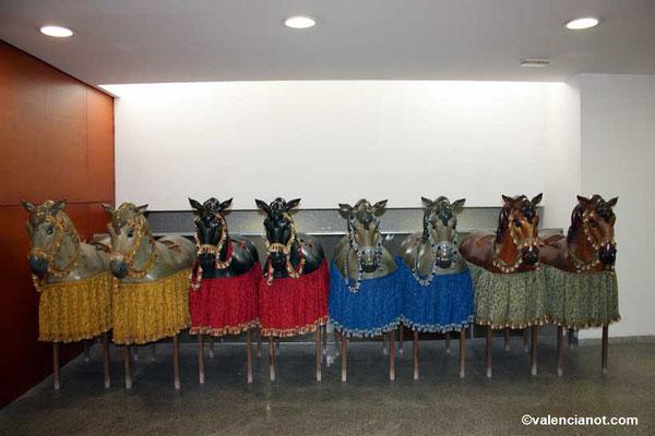 Caballitos de madera del museo del Corpus de Valencia.